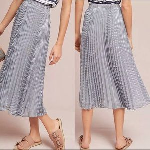 Pleated Anthropologie Midi Skirt